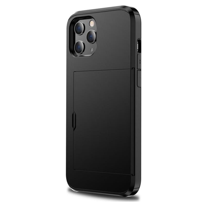 Mobiq Hybrid Card Hoesje iPhone 13 Zwart - 2