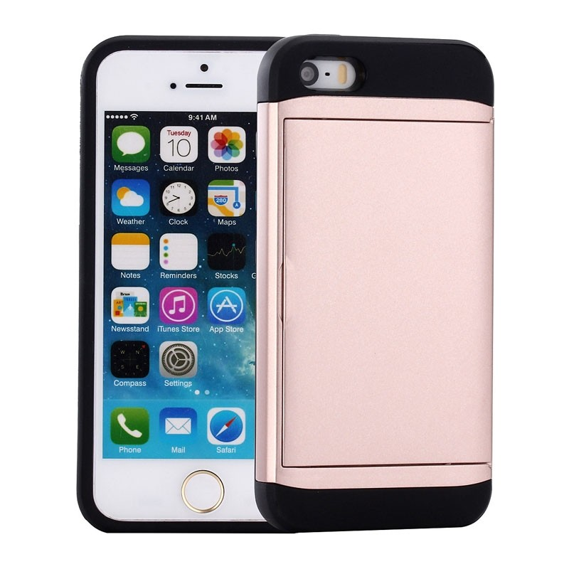 Mobiq Hybrid Card Case iPhone SE (2020)/8/7 Roze - 1