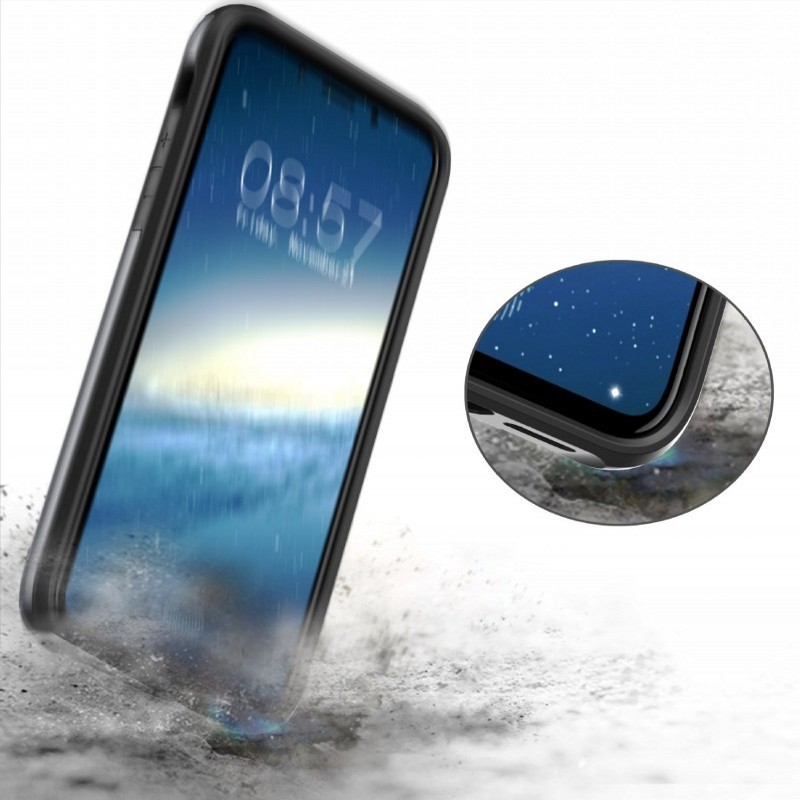 Mobiq Hybrid Card Case iPhone XR Grijs - 5
