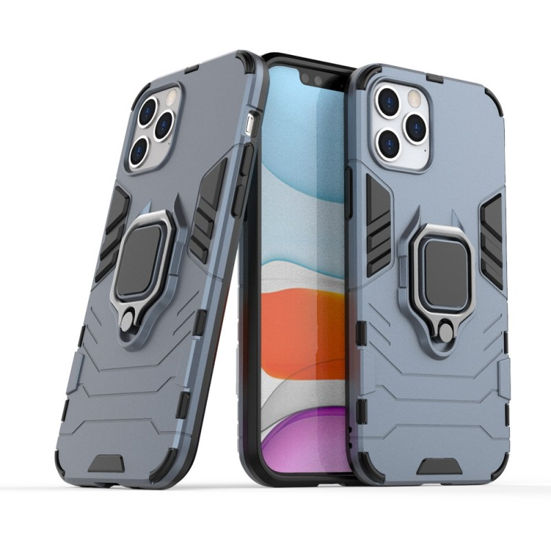 Mobiq Hybrid Magnetic Ring Case iPhone 12 6.1 Blauw - 2