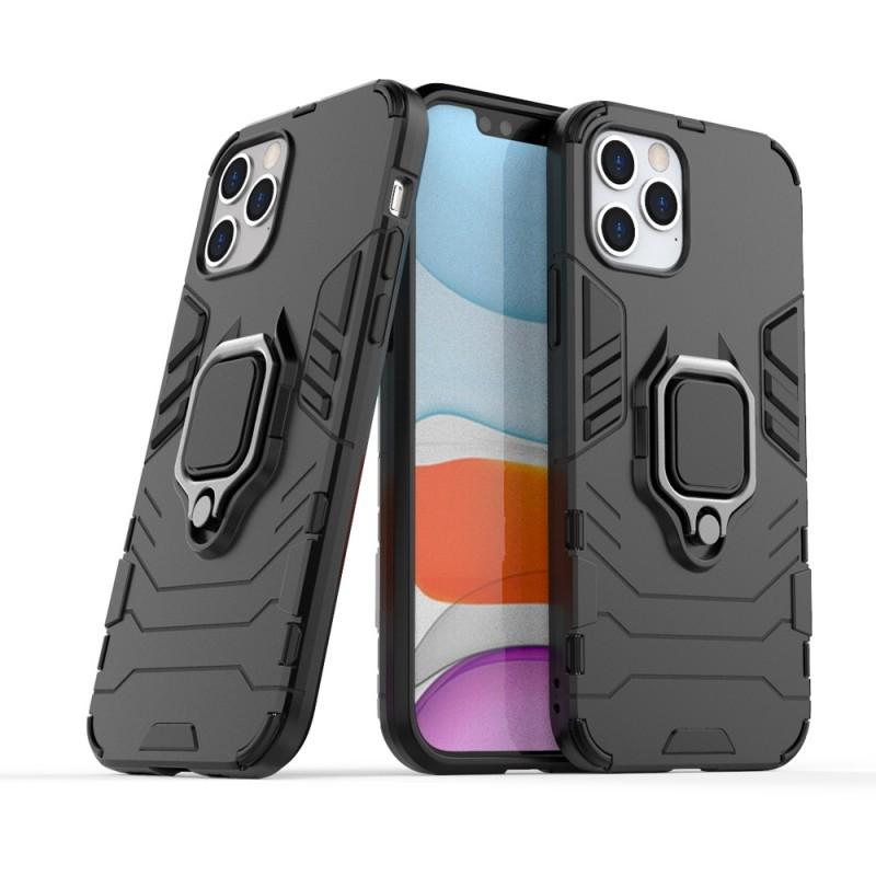 Mobiq Hybrid Magnetic Ring Case iPhone 12 6.1 Zwart - 2