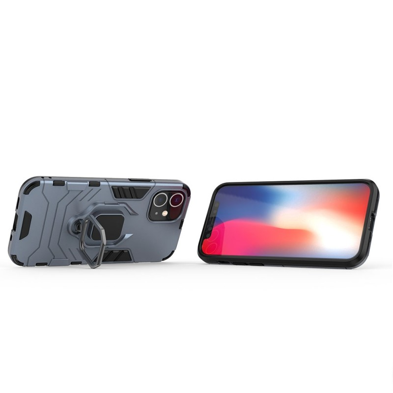 Mobiq Hybrid Magnetic Ring Case iPhone 12 Mini Blauw - 2
