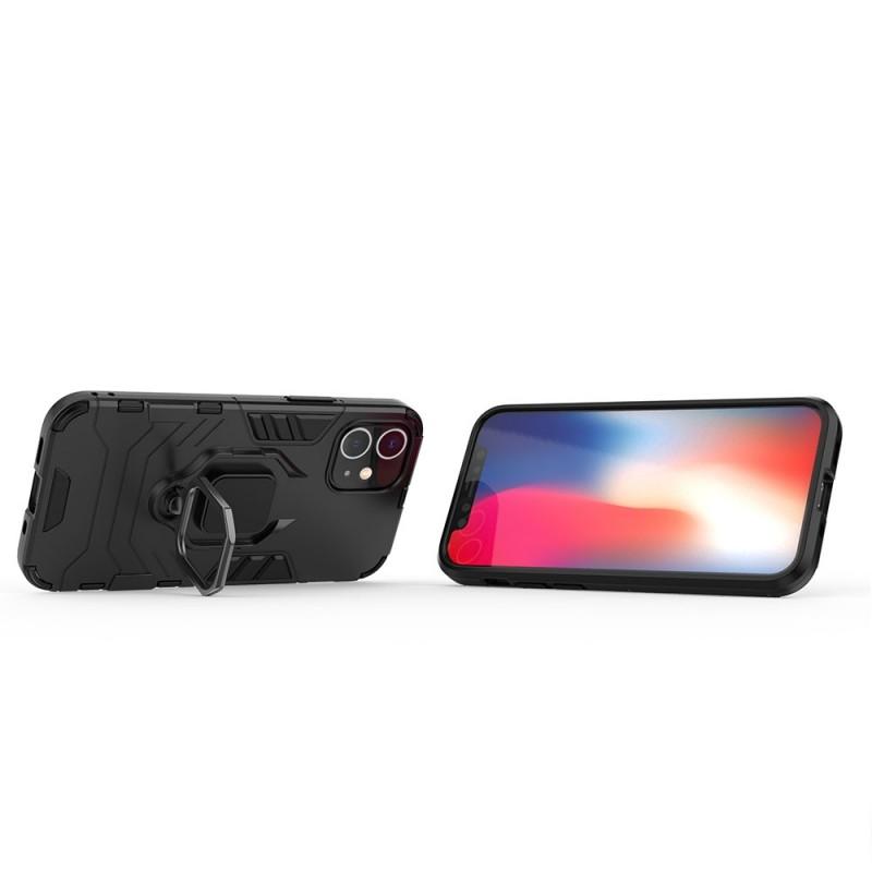Mobiq Hybrid Magnetic Ring Case iPhone 12 Mini Zwart - 2