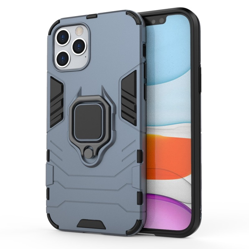 Mobiq Hybrid Magnetic Ring Case iPhone 12 Pro Max Blauw - 1