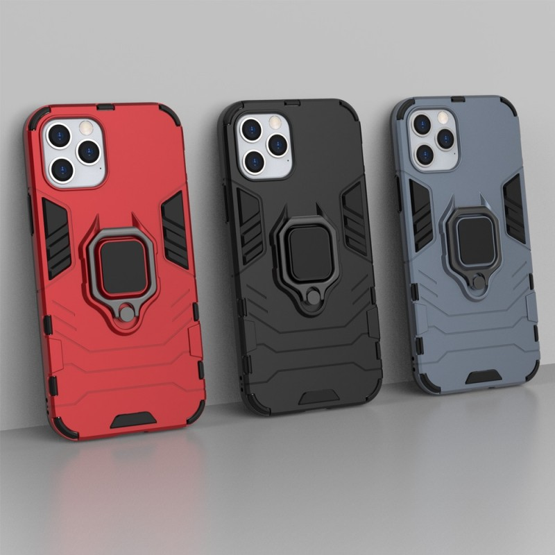 Mobiq Hybrid Magnetic Ring Case iPhone 12 Pro Max Zwart - 4