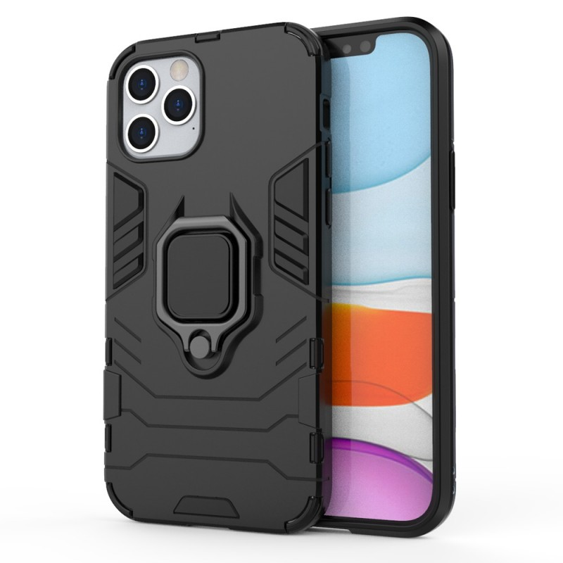 Mobiq Hybrid Magnetic Ring Case iPhone 12 Pro Max Zwart - 1