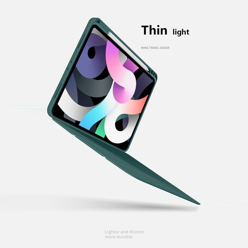 Mobiq Flexibele TriFold Hoes iPad Air 10.9 (2020) Paars - 3
