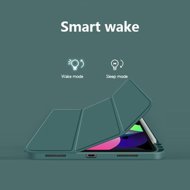 Mobiq Flexibele TriFold Hoes iPad Air 10.9 (2020) Blauw - 3