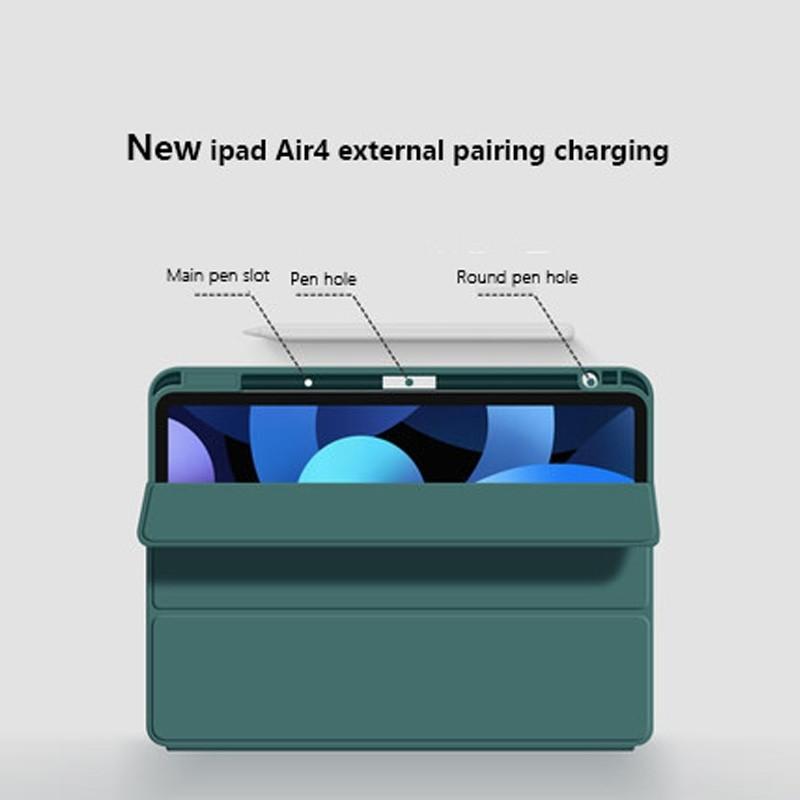 Mobiq Flexibele TriFold Hoes iPad Air 10.9 (2020) Blauw - 2