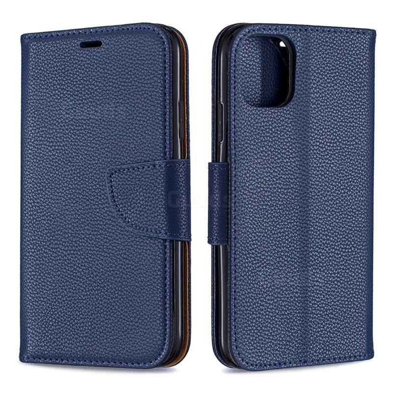 Mobiq Klassieke Portemonnee Hoes iPhone 11 Blauw - 4