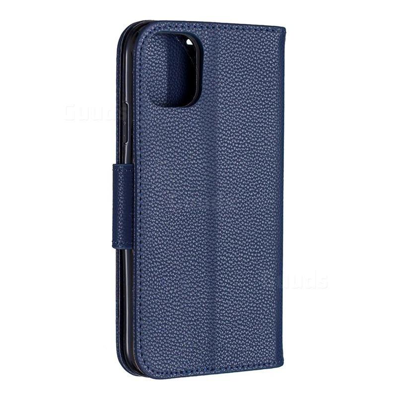 Mobiq Klassieke Portemonnee Hoes iPhone 11 Blauw - 3
