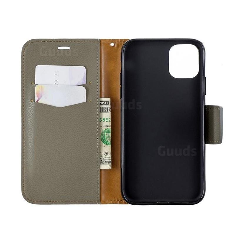 Mobiq Klassieke Portemonnee Hoes iPhone 11 Groen - 4