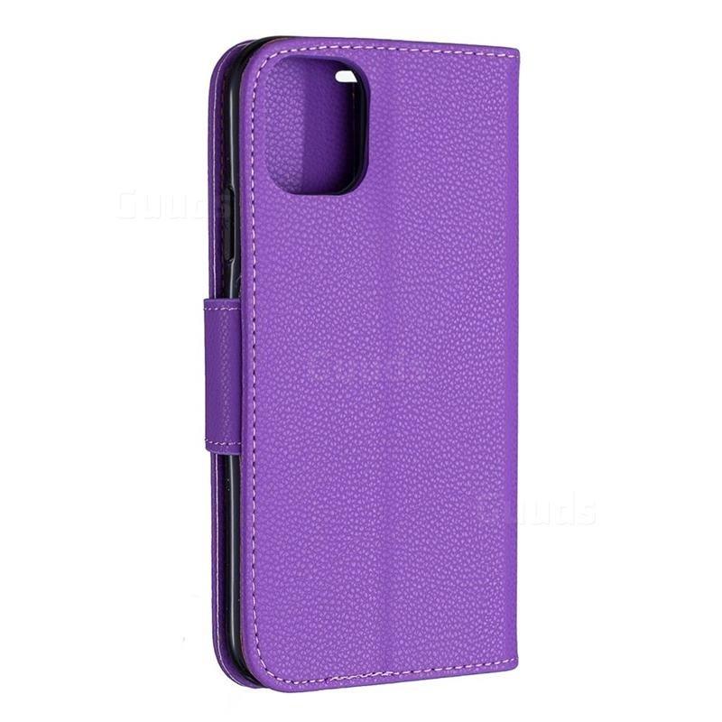 Mobiq Klassieke Portemonnee Hoes iPhone 11 Paars - 2