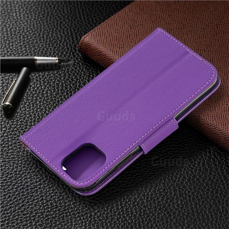 Mobiq Klassieke Portemonnee Hoes iPhone 11 Paars - 6
