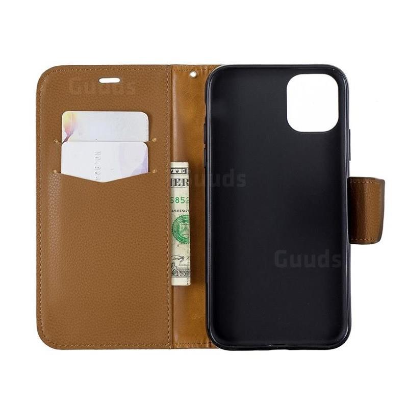 Mobiq Klassieke Portemonnee Hoes iPhone 11 Pro Bruin - 2