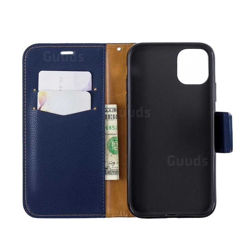Mobiq Klassieke Portemonnee Hoes iPhone 11 Pro Max Blauw - 4