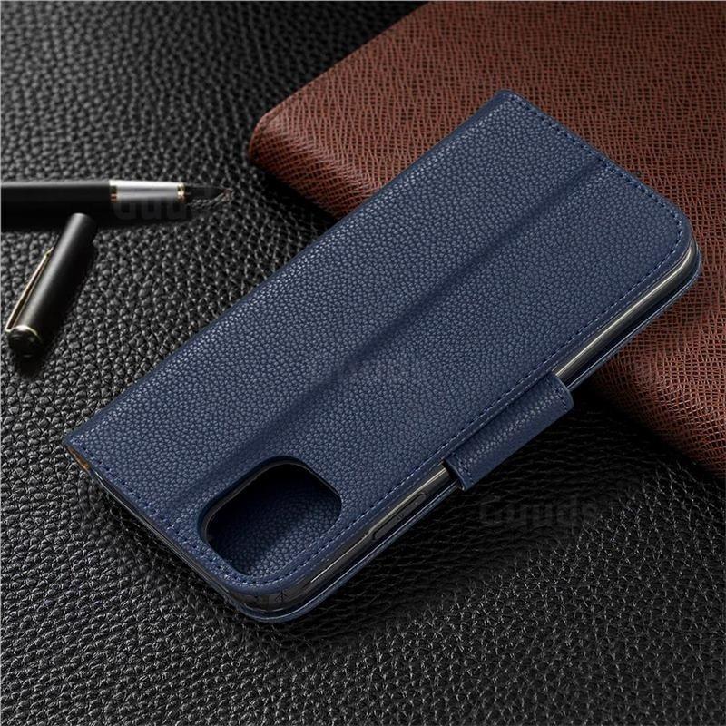 Mobiq Klassieke Portemonnee Hoes iPhone 11 Pro Max Blauw - 6