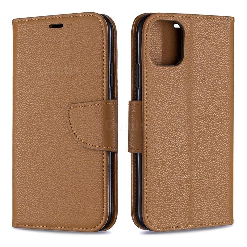 Mobiq Klassieke Portemonnee Hoes iPhone 11 Pro Max Bruin - 4