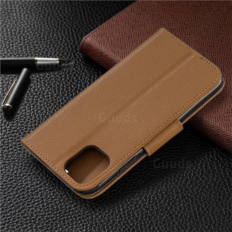 Mobiq Klassieke Portemonnee Hoes iPhone 11 Pro Max Bruin - 7