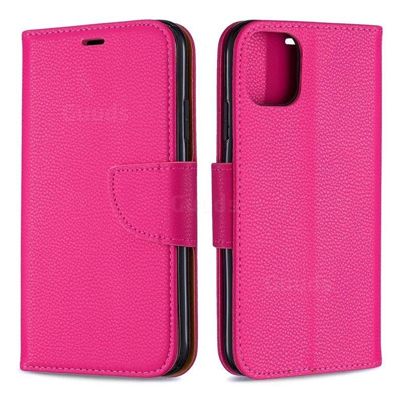 Mobiq Klassieke Portemonnee Hoes iPhone 11 Pro Max Roze - 4