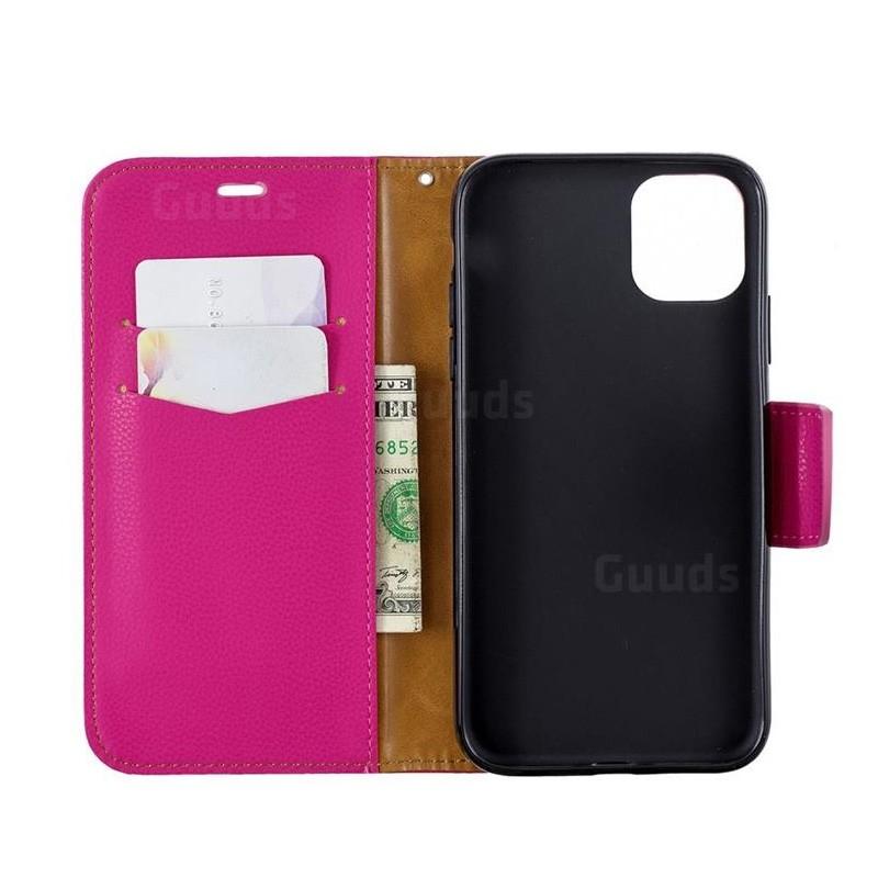 Mobiq Klassieke Portemonnee Hoes iPhone 11 Pro Max Roze - 2
