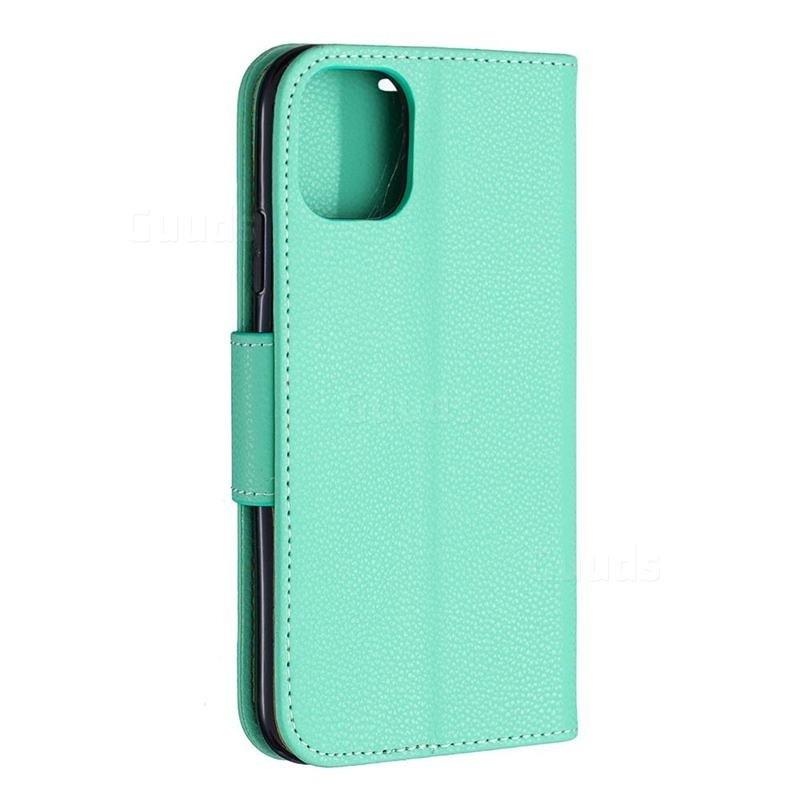Mobiq Klassieke Portemonnee Hoes iPhone 11 Pro Max Turqoise - 2