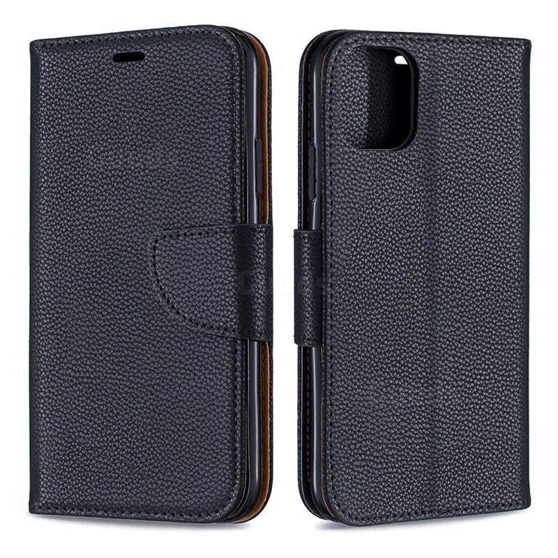 Mobiq Klassieke Portemonnee Hoes iPhone 11 Pro Max Zwart - 4