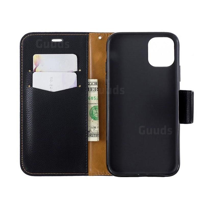 Mobiq Klassieke Portemonnee Hoes iPhone 11 Pro Max Zwart - 2