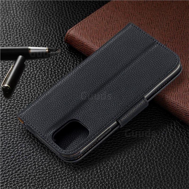Mobiq Klassieke Portemonnee Hoes iPhone 11 Pro Max Zwart - 7