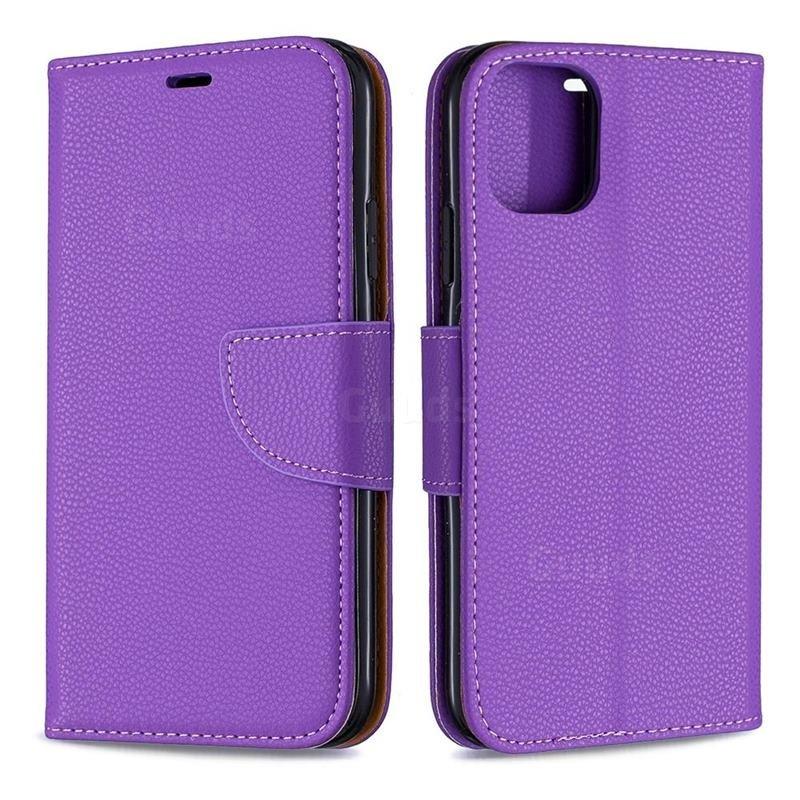 Mobiq Klassieke Portemonnee Hoes iPhone 11 Pro Paars - 4