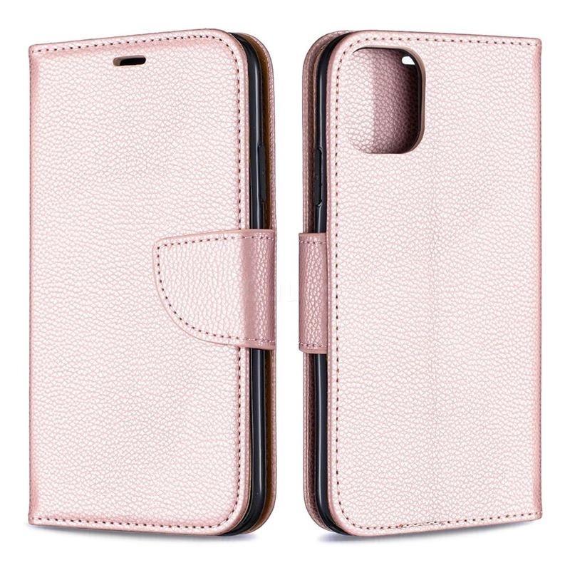 Mobiq Klassieke Portemonnee Hoes iPhone 11 Rose Gold - 4