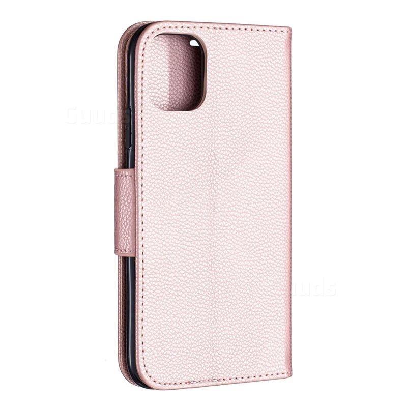 Mobiq Klassieke Portemonnee Hoes iPhone 11 Rose Gold - 2