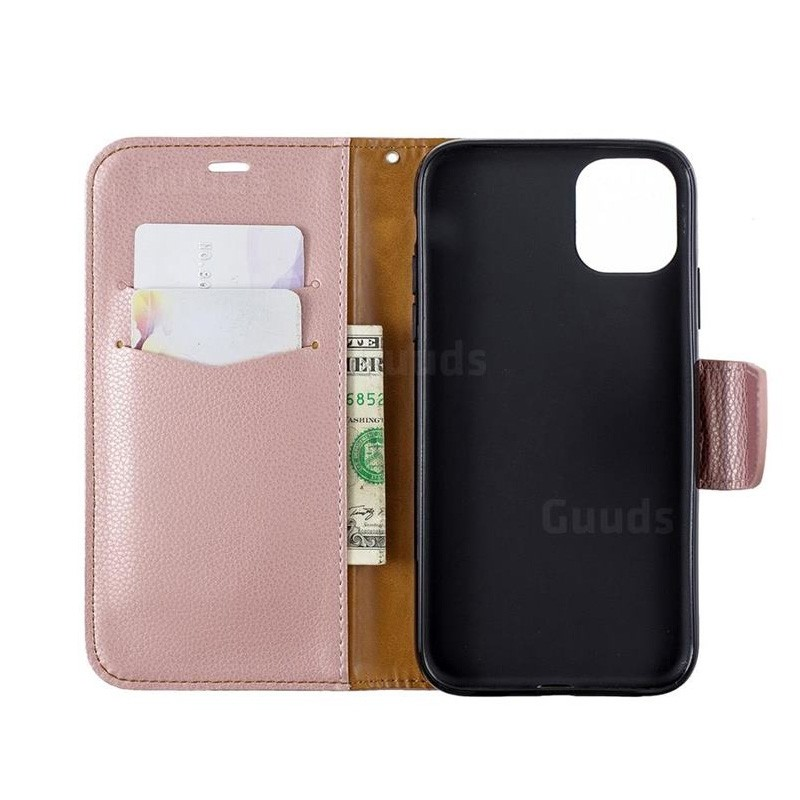 Mobiq Klassieke Portemonnee Hoes iPhone 11 Rose Gold - 3