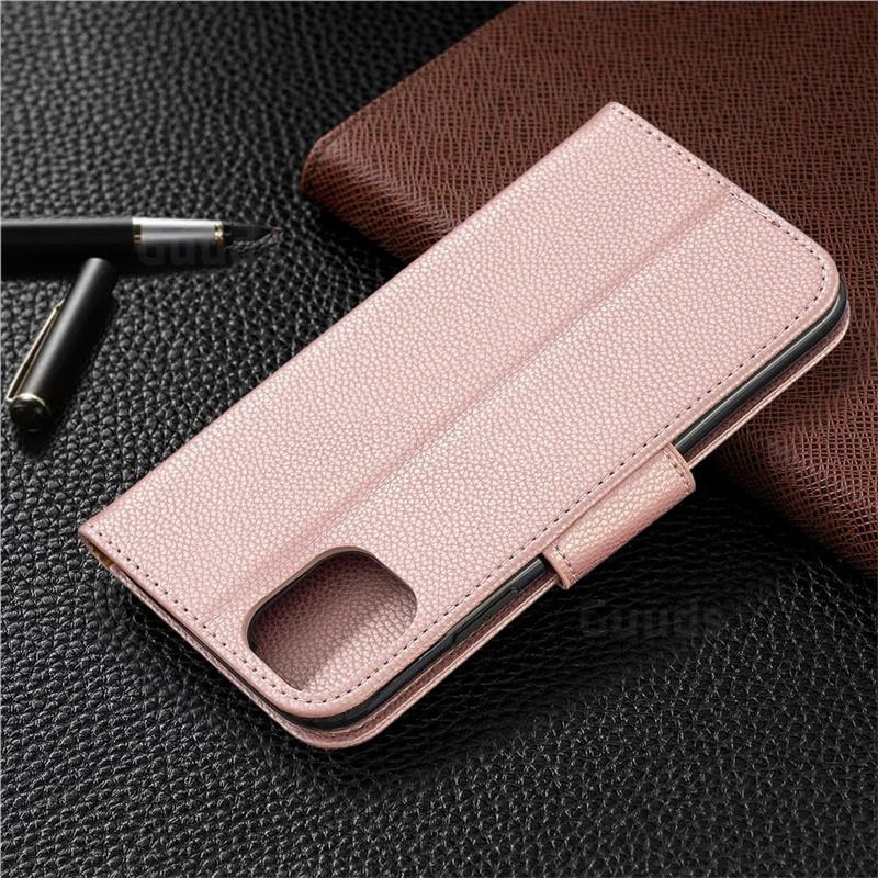 Mobiq Klassieke Portemonnee Hoes iPhone 11 Rose Gold - 7
