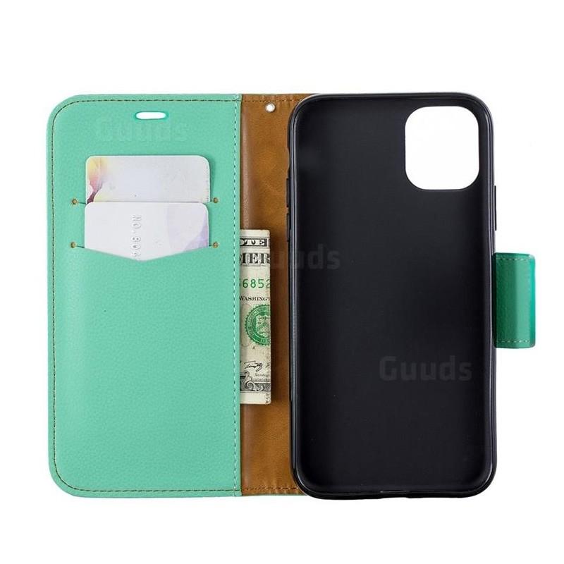 Mobiq Klassieke Portemonnee Hoes iPhone 11 Mint - 4