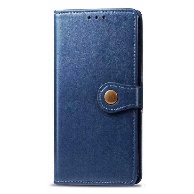Mobiq Klassieke Wallet Case iPhone 12 6.1 Blauw - 1