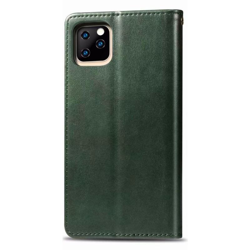 Mobiq Klassieke Wallet Case iPhone 12 6.1 Groen - 2