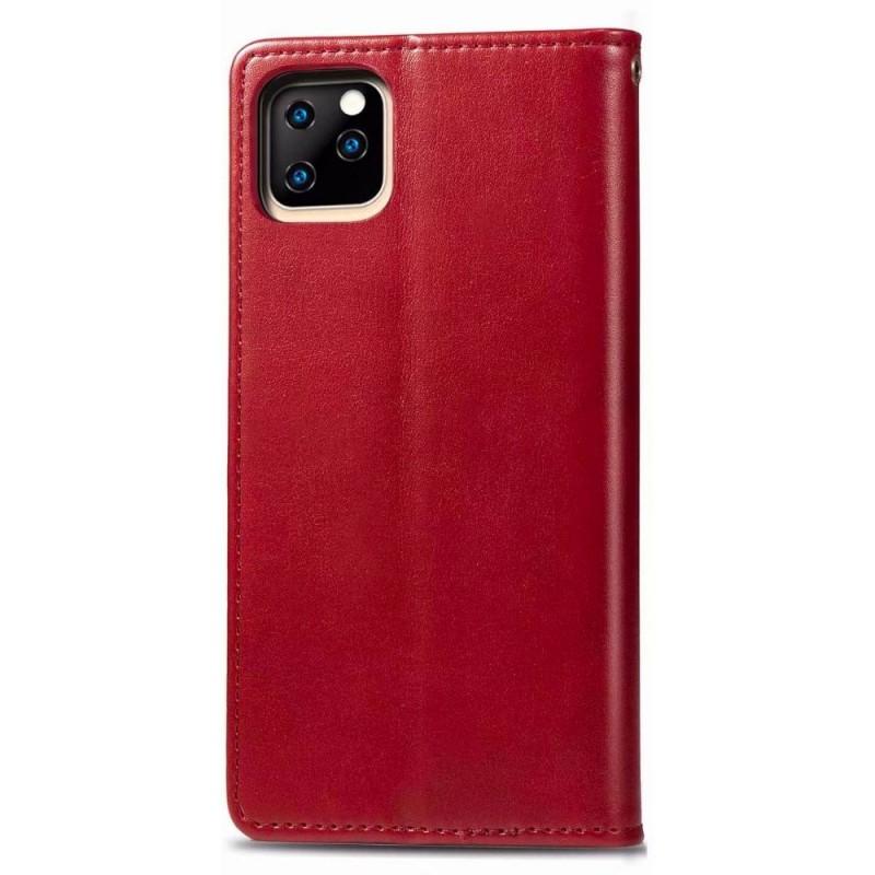 Mobiq Klassieke Wallet Case iPhone 12 6.1 Rood - 2