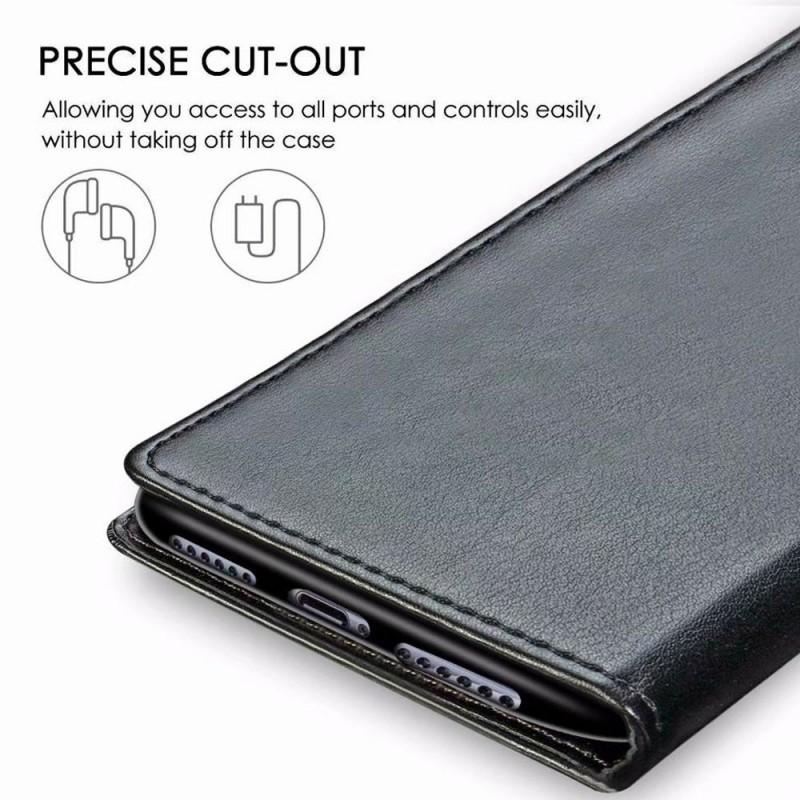 Mobiq Klassieke Wallet Case iPhone 12 6.1 Bruin - 5