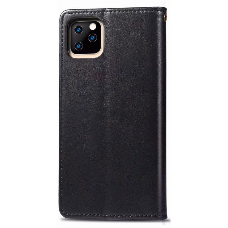 Mobiq Klassieke Wallet Case iPhone 12 6.1 Zwart - 2