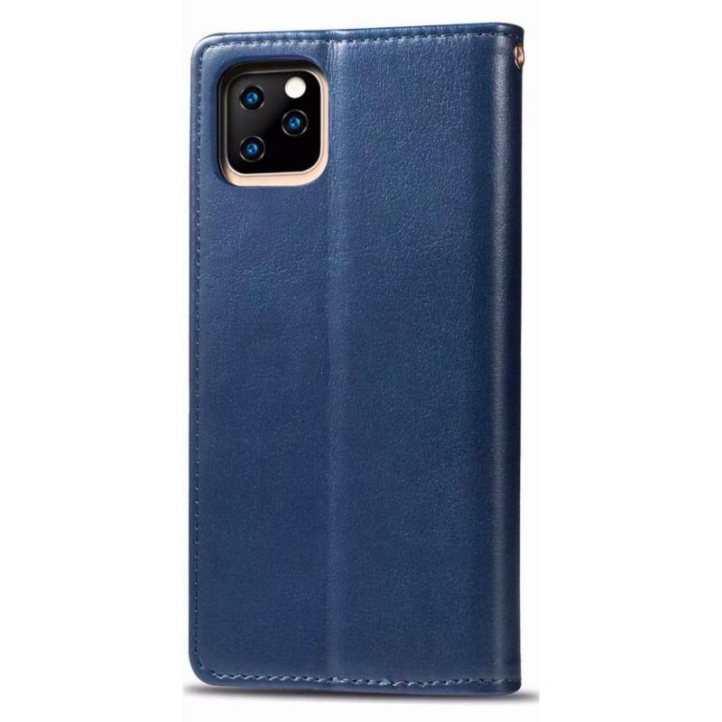 Mobiq Klassieke Wallet Case iPhone 12 Mini Blauw - 2