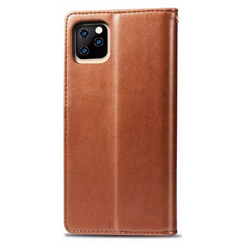 Mobiq Klassieke Wallet Case iPhone 12 Mini Bruin - 2