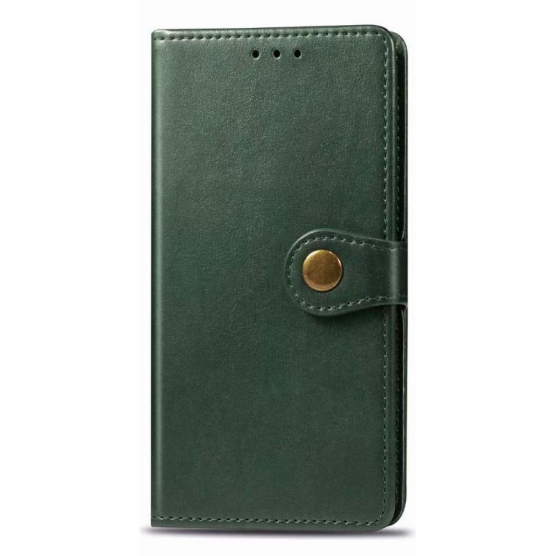 Mobiq Klassieke Wallet Case iPhone 12 Mini Groen - 1