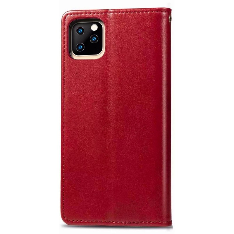 Mobiq Klassieke Wallet Case iPhone 12 Pro Max Rood - 2