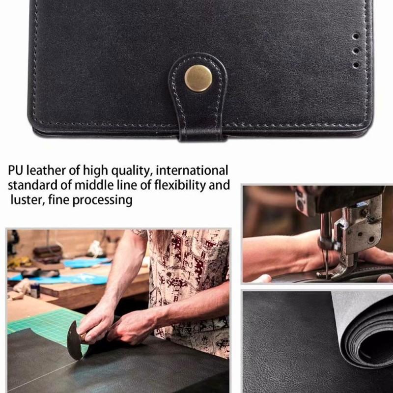 Mobiq Klassieke Wallet Case iPhone 12 Pro Max Rood - 4