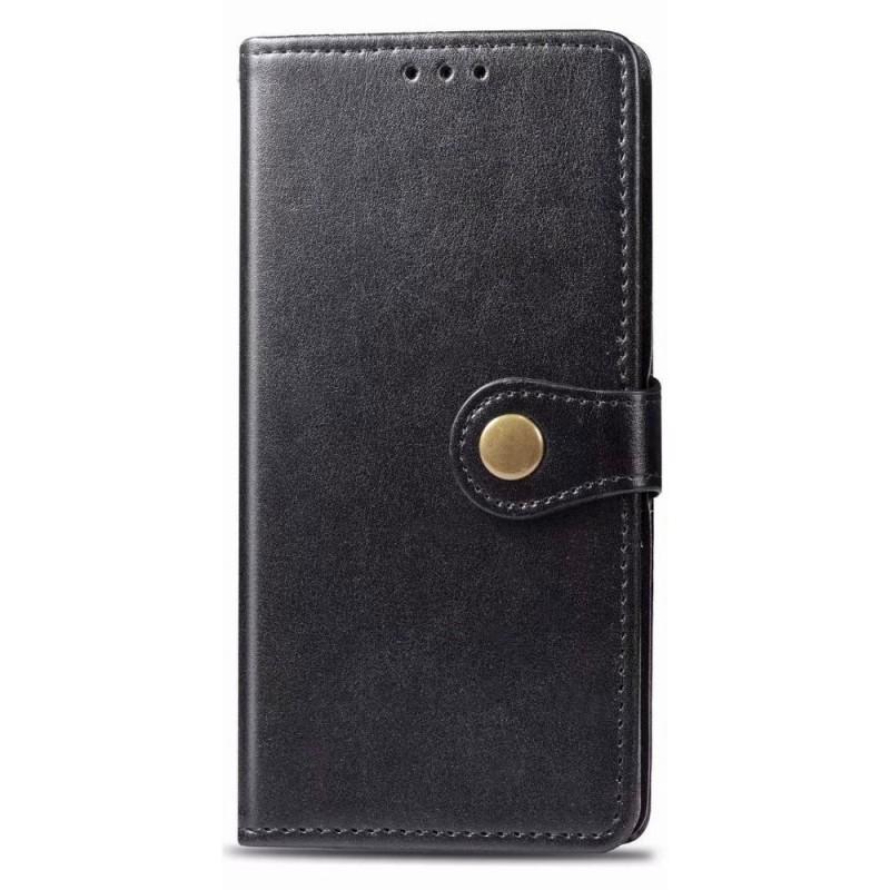 Mobiq Klassieke Wallet Case iPhone 12 Pro Max Zwart - 1