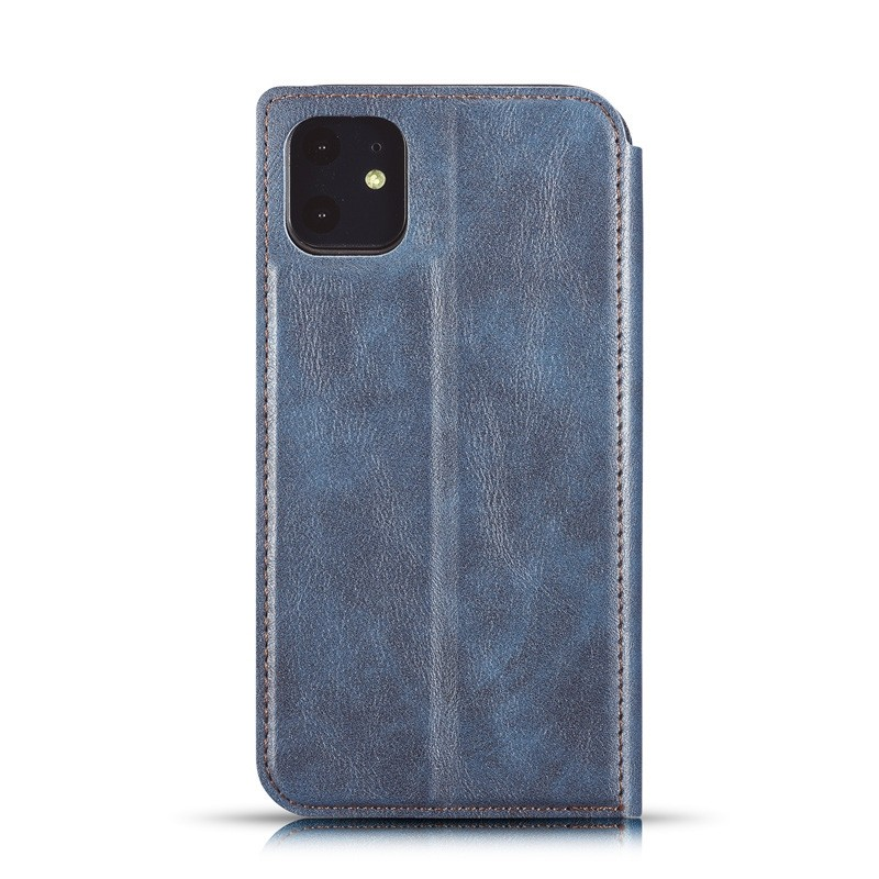 Mobiq - Slim Magnetic Wallet iPhone 11 Bruin - 2