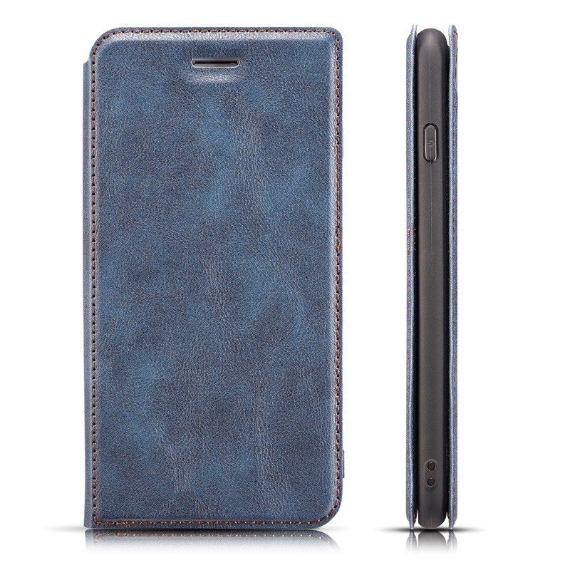 Mobiq - Slim Magnetic Wallet iPhone 11 Pro Max Blauw - 4