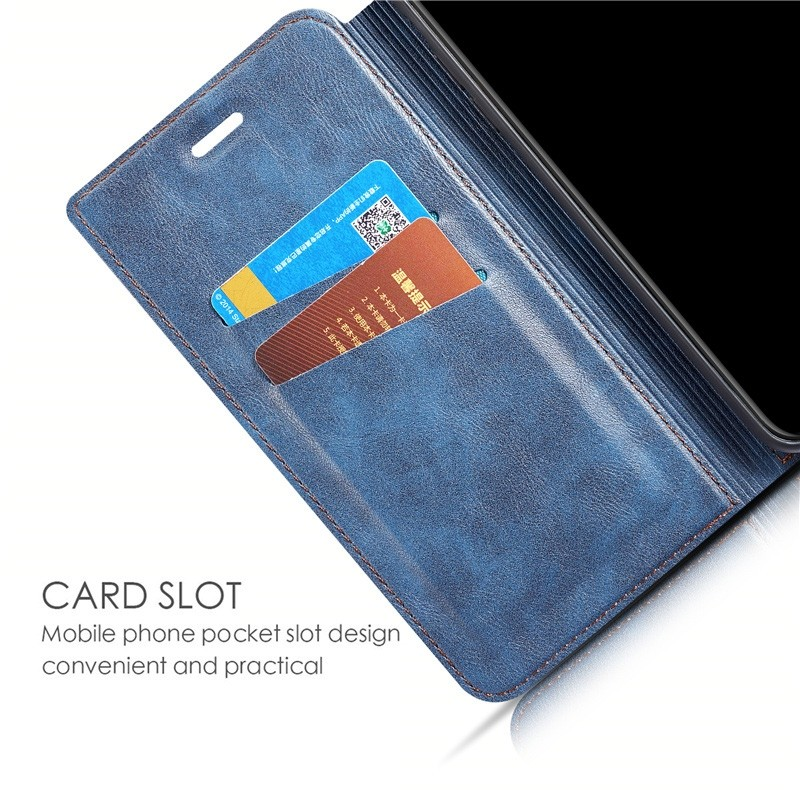 Mobiq - Slim Magnetic Wallet iPhone 11 Pro Max Blauw - 6