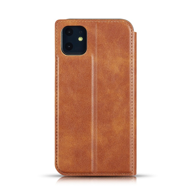 Mobiq - Slim Magnetic Wallet iPhone 11 Pro Max Bruin - 2